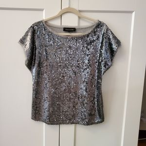 River Island Sequin Grey Blouse